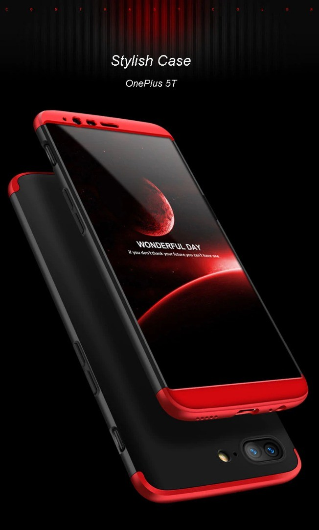 قاب محافظ با پوشش 360 درجه وان پلاس OnePlus 5T Color Full Cover
