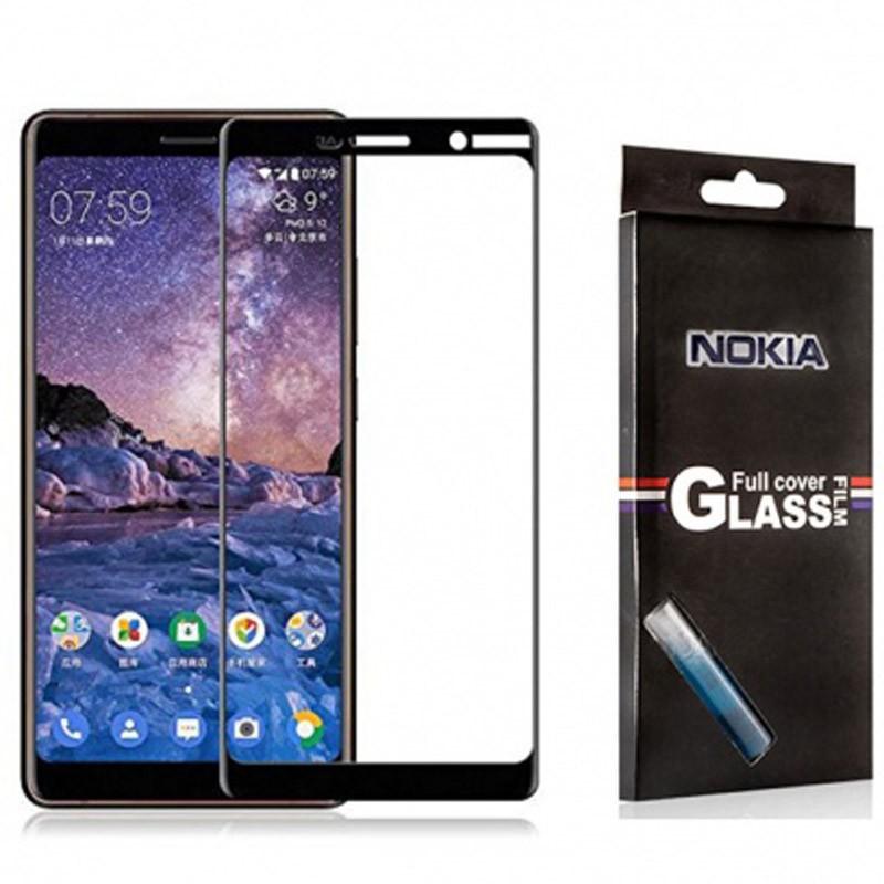 محافظ صفحه نمایش تمام چسب با پوشش کامل Nokia 7 Plus