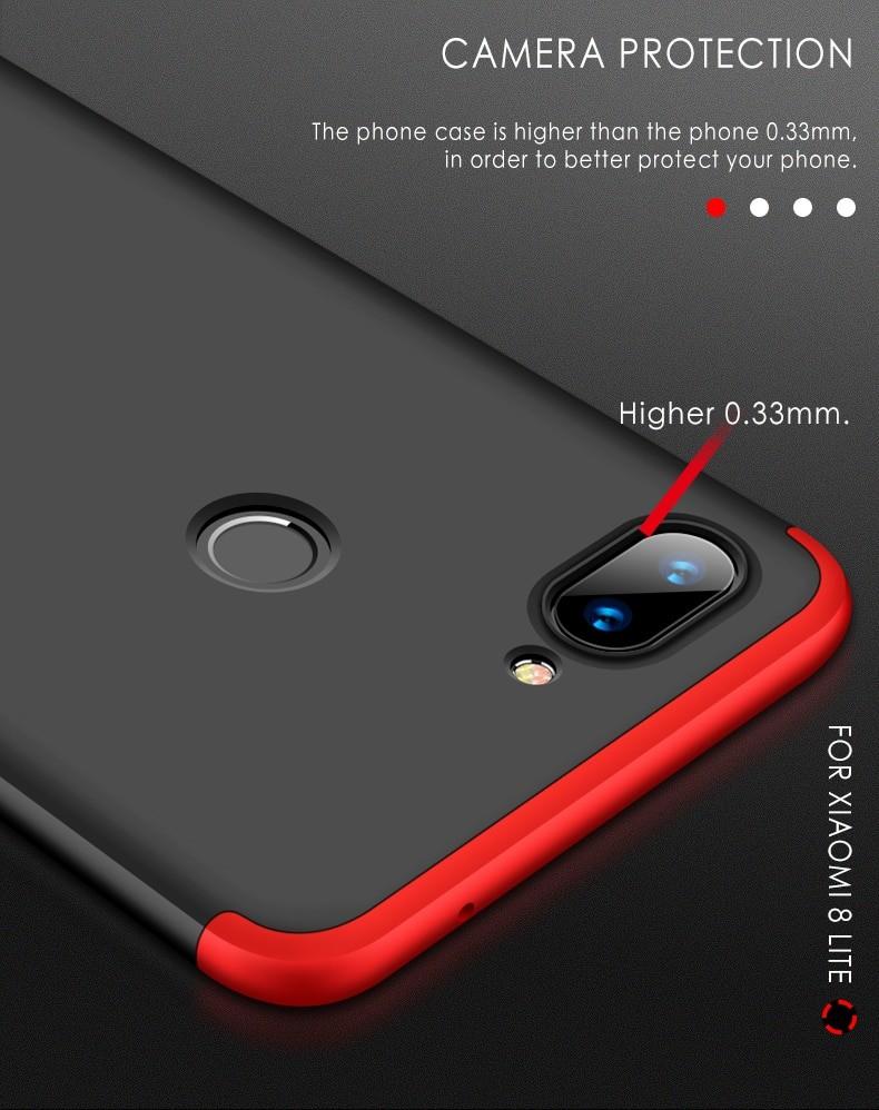 قاب محافظ با پوشش 360 درجه Xiaomi Mi 8 Lite Color Full Cover