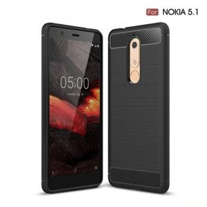 قاب محافظ ژله ای نوکیا Carbon Fibre Case Nokia 5.1 2018
