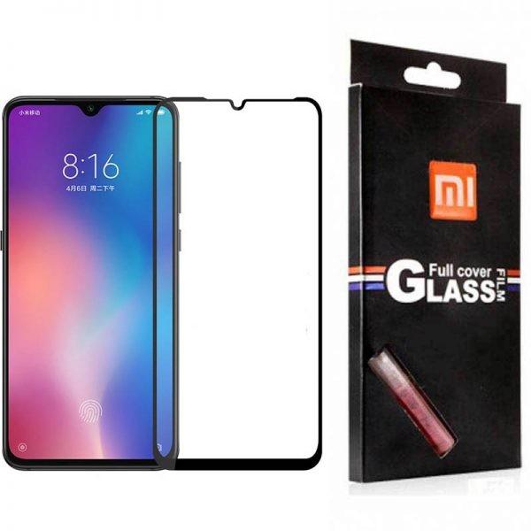 محافظ صفحه نمایش تمام چسب با پوشش کامل Glass Screen Protector For Xiaomi Mi 9