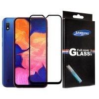 محافظ صفحه نمایش شیشه ای با پوشش کامل تمام چسب Full cover glass screen protector Samsung Galaxy A10
