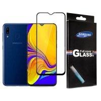 محافظ صفحه نمایش شیشه ای با پوشش کامل تمام چسب Full cover glass screen protector Samsung Galaxy A20/Galaxy A30/Galaxy A50