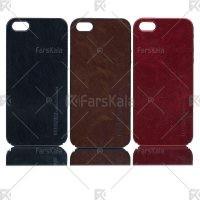 قاب محافظ چرمی اپل Huanmin Leather protective frame Apple iphone 5 & 5S