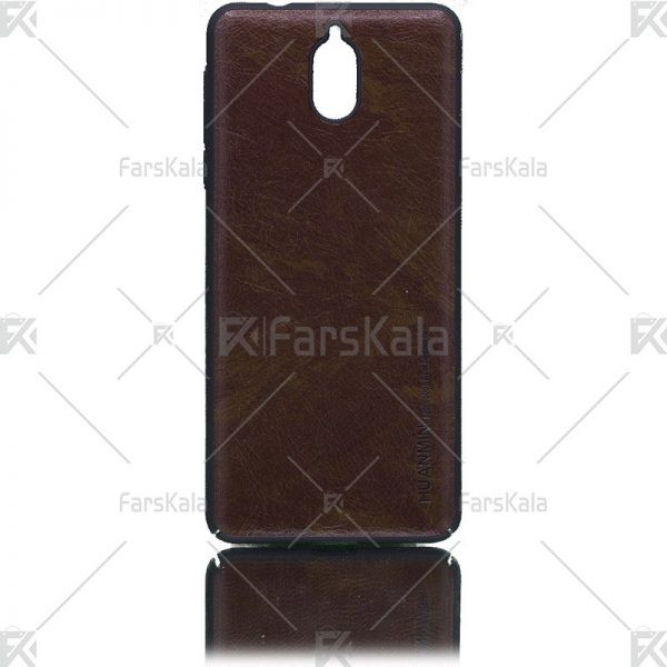 قاب محافظ چرمی نوکیا Huanmin Leather protective frame Nokia 3.1