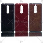قاب محافظ چرمی نوکیا Huanmin Leather protective frame Nokia 5.1