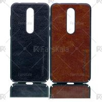 قاب محافظ چرمی نوکیا Huanmin Leather protective frame Nokia 6.1 Plus / X6