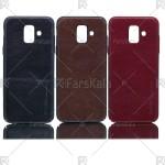قاب محافظ چرمی سامسونگ Huanmin Leather protective frame Samsung Galaxy A6 2018
