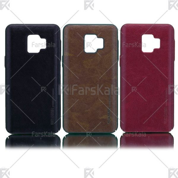 قاب محافظ چرمی سامسونگ Huanmin Leather protective frame Samsung Galaxy J2 Core 2018