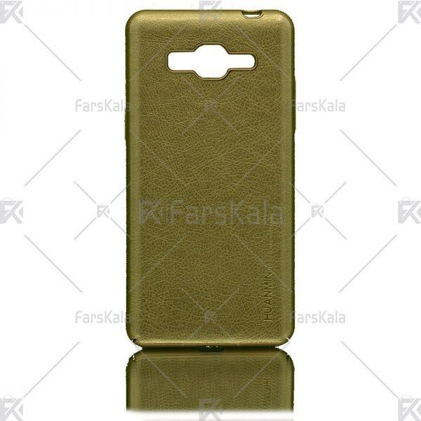 قاب محافظ چرمی سامسونگ Huanmin Leather protective frame Samsung Galaxy J2 Prime