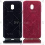 قاب محافظ چرمی سامسونگ Huanmin Leather protective frame Samsung Galaxy J3 Pro