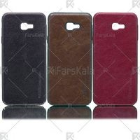 قاب محافظ چرمی سامسونگ Huanmin Leather protective frame Samsung Galaxy J4 Plus