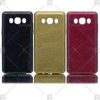 قاب محافظ چرمی سامسونگ Huanmin Leather protective frame Samsung Galaxy J5 2016