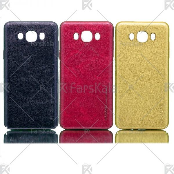 قاب محافظ چرمی سامسونگ Huanmin Leather protective frame Samsung Galaxy J7 2016