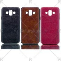 قاب محافظ چرمی سامسونگ Huanmin Leather protective frame Samsung Galaxy J7 Duo