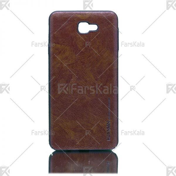 قاب محافظ چرمی سامسونگ Huanmin Leather protective frame Samsung Galaxy J7 Prime