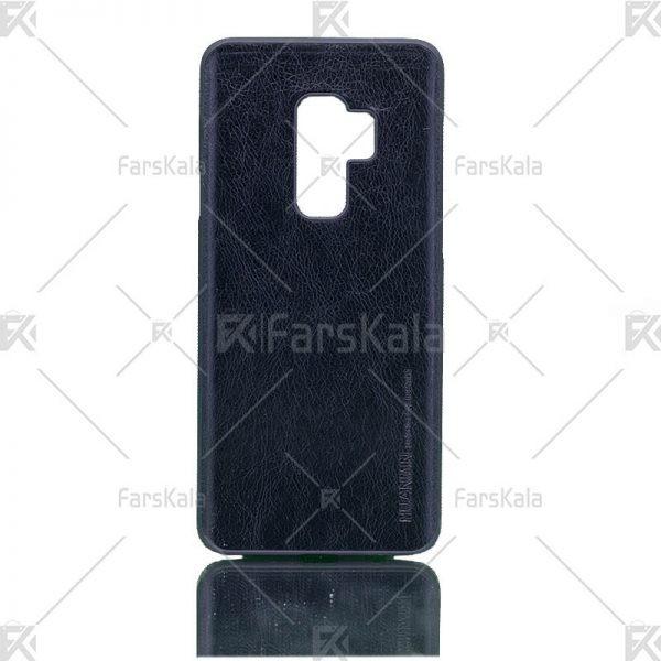 قاب محافظ چرمی سامسونگ Huanmin Leather protective frame Samsung Galaxy S9 plus