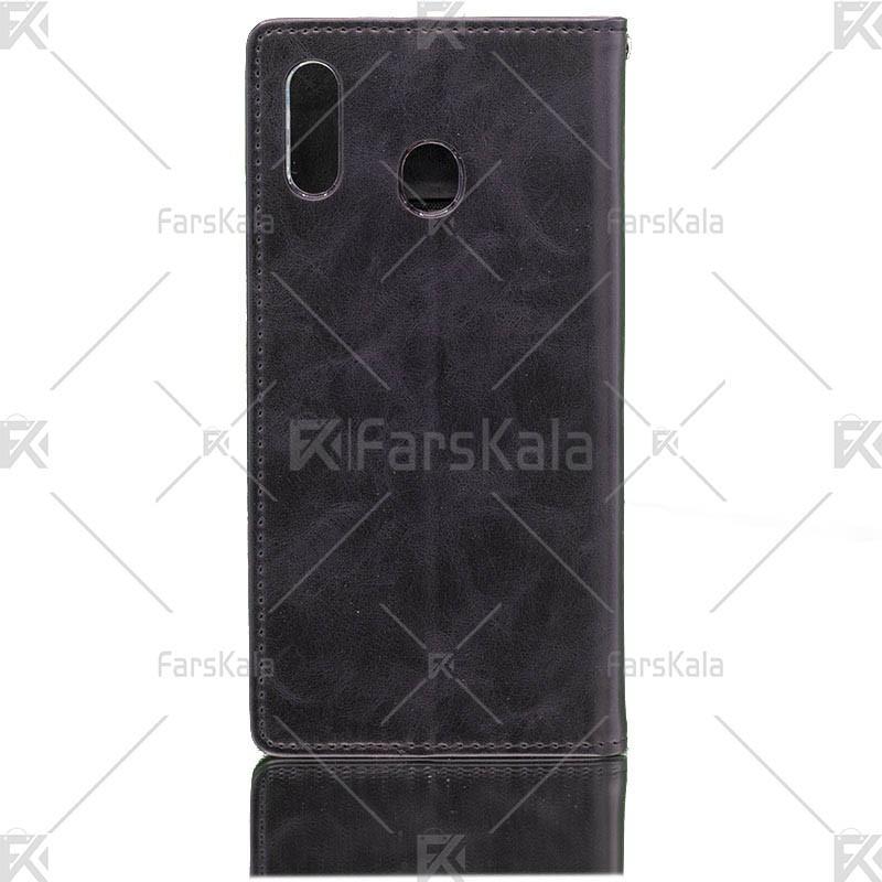 کیف محافظ چرمی سامسونگ Molan Cano leather Cover Samsung Galaxy M20