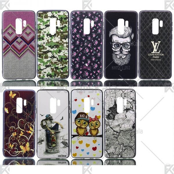 قاب محافظ طرح دار سامسونگ Patterned protective frame Samsung Galaxy S9 plus