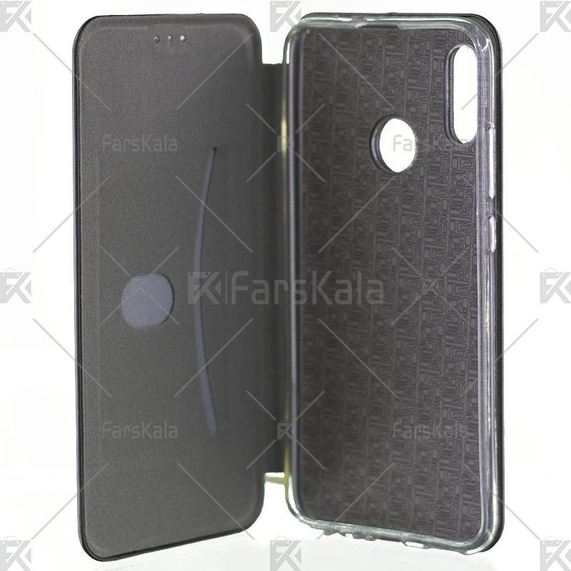 کیف محافظ چرمی هوآوی Standing Magnetic Cover Huawei Honor 10 Lite