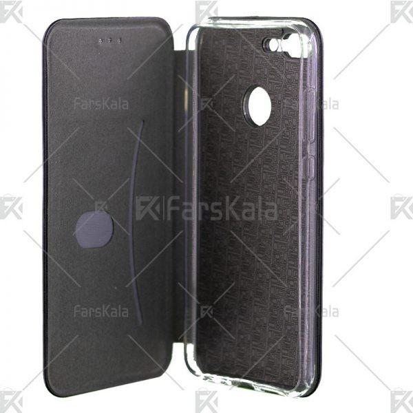 کیف محافظ چرمی هوآوی Standing Magnetic Cover Huawei Honor 9 Lite