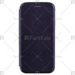 کیف محافظ چرمی سامسونگ Standing Magnetic Cover Samsung Galaxy J7 Pro