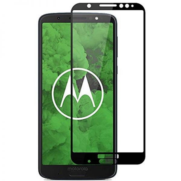 محافظ صفحه نمایش تمام چسب با پوشش کامل Glass Screen Protector For Motorola Moto G6 Plus