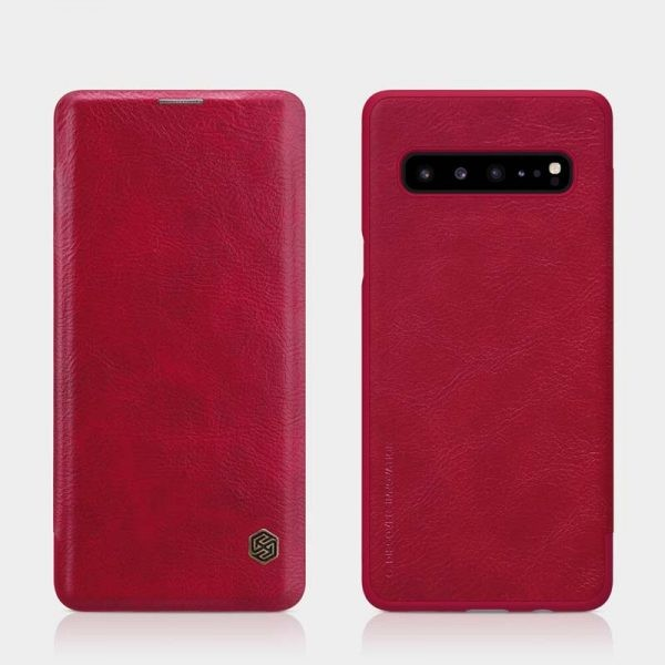 کیف چرمی نیلکین سامسونگ Nillkin Qin Series Leather case for Samsung Galaxy S10 5G