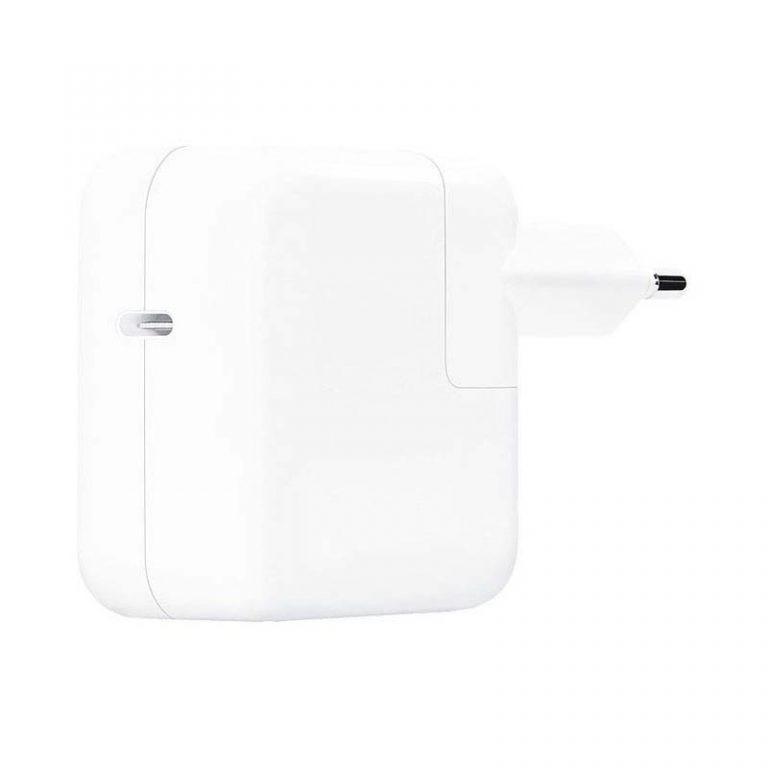 کابل و شارژر اصلی اپل Apple 30W USB-C Power Adapter With USB-C To Lightning Cable