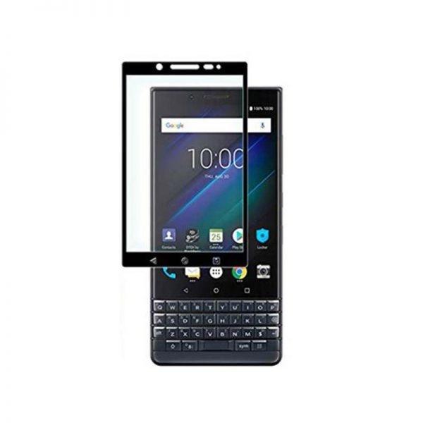 محافظ صفحه نمایش تمام چسب با پوشش کامل Full Glass Screen Protector For BlackBerry KEY2 LE