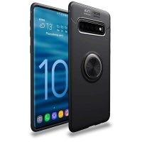 قاب ژله ای طرح چرم انگشتی سامسونگ Becation A.F Magnetic Ring Case For Samsung Galaxy S10