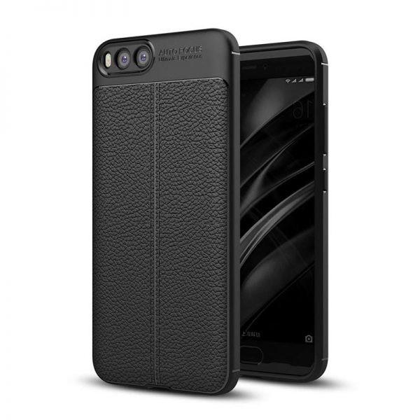 قاب ژله ای طرح چرم Auto Focus Jelly Case For Xiaomi Mi Note 3