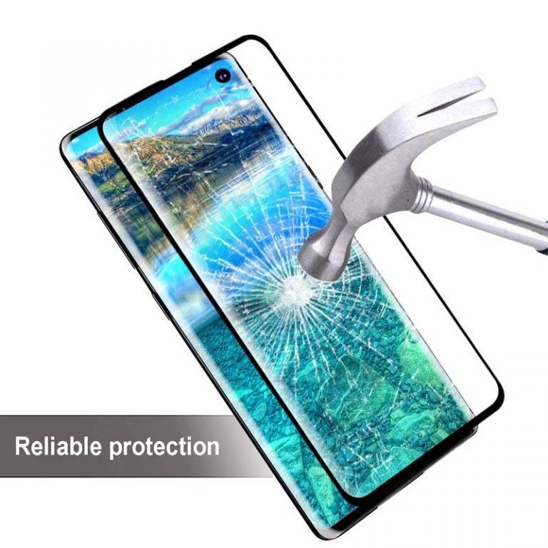 محافظ صفحه نمایش شیشه ای با پوشش کامل تمام چسب Full Glass screen protector Samsung Galaxy S10