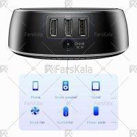 شارژر بی سیم و هاب 3 پورت بیسوس Baseus Star Sky 2-in-1 Desktop Wired 3 USB Ports Wireless Charger