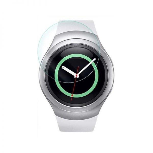 محافظ صفحه نمایش شیشه ای ساعت هوشمند سامسونگ Glass Screen Protector For Samsung Gear S2