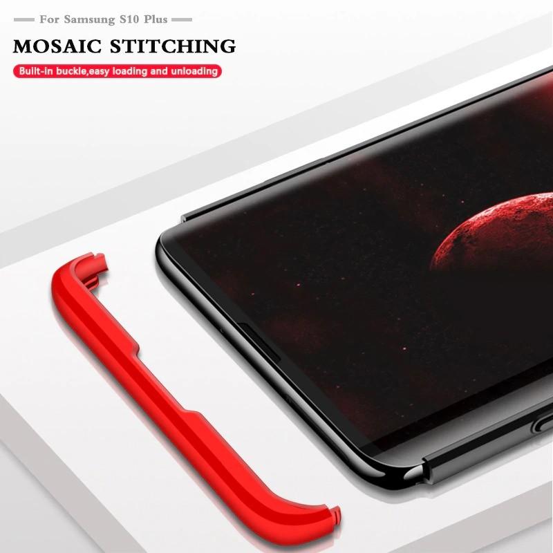 قاب محافظ با پوشش 360 درجه FULL Matte Hard Cover Case For Samsung Galaxy S10 Plus