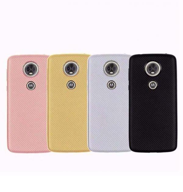 قاب محافظ ژله ای Haimen Fiber Carbon Texture For Motorola Moto E5 Plus