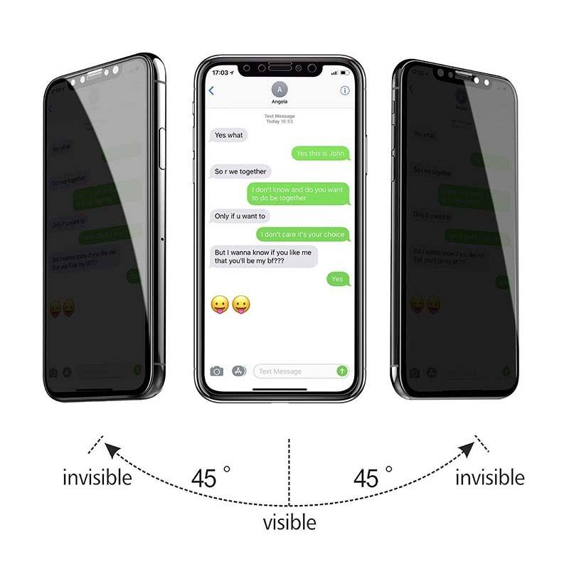 محافظ صفحه نمایش حریم شخصی تمام چسب با پوشش کامل Privacy Full Screen Protector For Apple IPhone XR