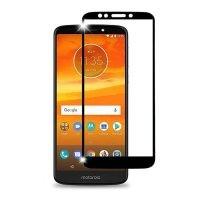 محافظ صفحه نمایش تمام چسب با پوشش کامل Glass Screen Protector For Motorola Moto E5 Plus