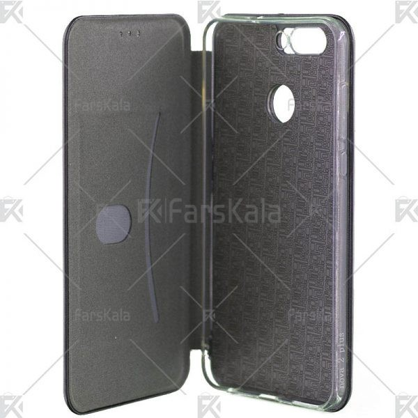 کیف محافظ چرمی هوآوی Standing Magnetic Cover Huawei Nova 2 Plus
