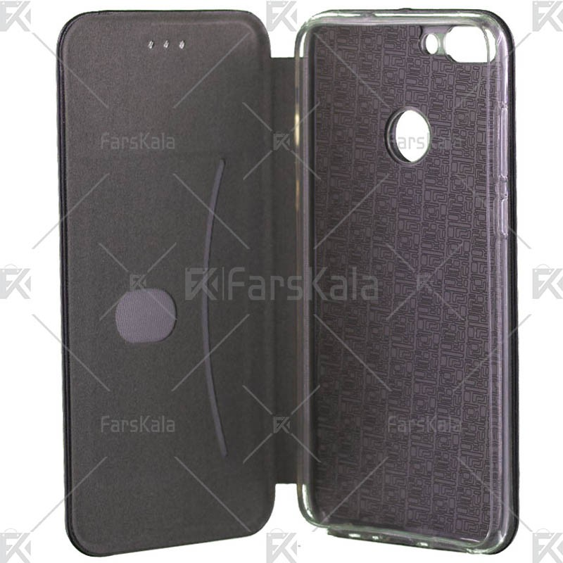 کیف محافظ چرمی هوآوی Standing Magnetic Cover Huawei P Smart