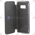 کیف محافظ چرمی سامسونگ Standing Magnetic Cover Samsung Galaxy S8