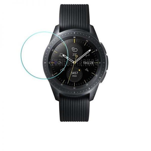 محافظ صفحه نمایش شیشه ای ساعت هوشمند سامسونگ Glass Screen Protector For Samsung Galaxy Watch 46MM