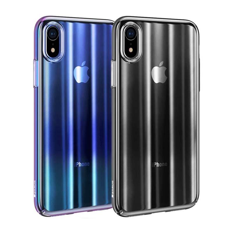 قاب محافظ لیزری رنگین کمانی بیسوس Baseus Aurora Case For Apple IPhone XR
