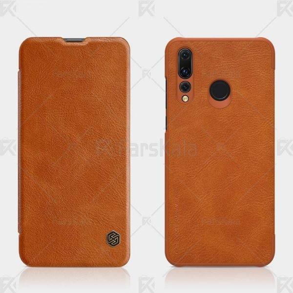 کیف محافظ چرمی نیلکین هواوی Nillkin Qin Case For Huawei P Smart Plus 2019 / Enjoy 9S