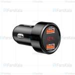 شارژر فندکی فست شارژ بیسوس Baseus BS-C20A 45W Quick Charge 4.0 3.0 USB Car Charger