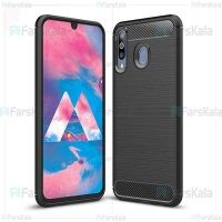 قاب محافظ ژله ای سامسونگ Fiber Carbon Rugged Armor Case For Samsung Galaxy M30