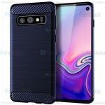 قاب محافظ ژله ای سامسونگ Fiber Carbon Rugged Armor Case For Samsung Galaxy S10e