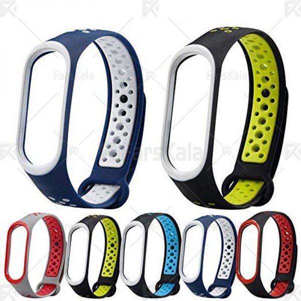 بند سیلیکونی طرح نایکی دستبند سلامتی شیائومی Ventilate Nike Band For Mi Band 3