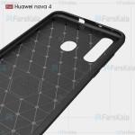 قاب محافظ ژله ای هواوی Fiber Carbon Rugged Armor Case For Huawei Nova 4